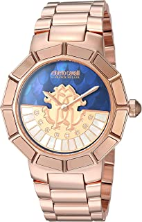 Roberto Cavalli by Franck Muller Womens Rotating DIAL Quartz Watch with Gold-Tone-Stainless