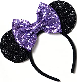 CLGIFT Purple Mickey Ears, Sparkly Mickey Ears, Daisy Mickey Ears, Tangled Mickey Ears, Minnie Ears, Lilac Mickey Ears