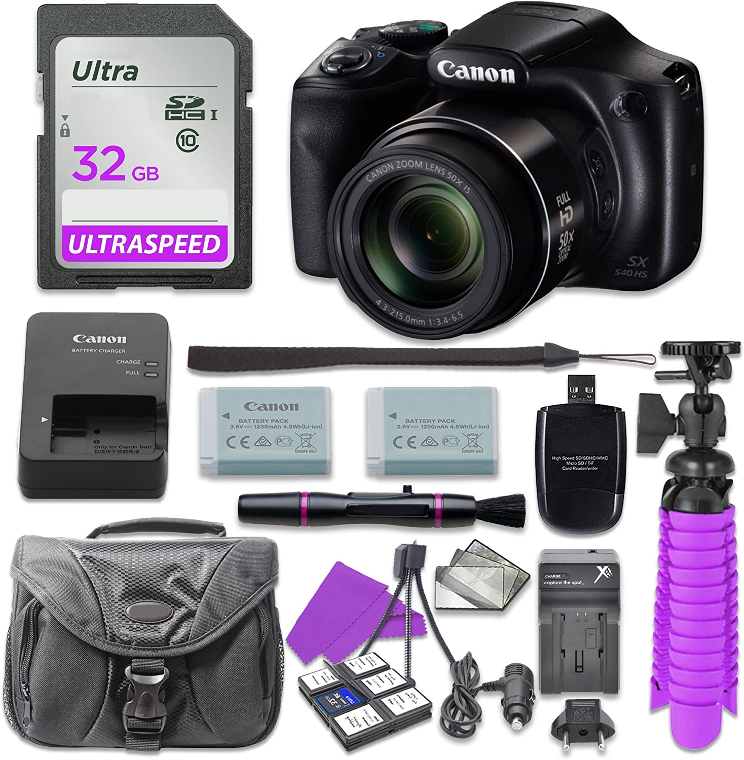 Canon Beauty products Max 63% OFF PowerShot SX540 Digital Camera with Memory 32GB + Card SD