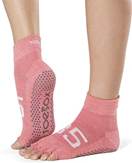 Grip Pilates Barre Socks-Non Slip Ankle Half Toe For Yoga & Ballet Calcetines, Mujer