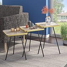 مجموعة من 3 طاولات جانبية بتصميم شروق الشمس - طاولات صغيرة توضع بجانب طاولة بجانب السرير لغرفة المعيشة، غرفة النوم، مجموعة...
