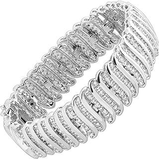 2 ct Diamond 'S' Link Tennis Bracelet in 18K Plated Brass