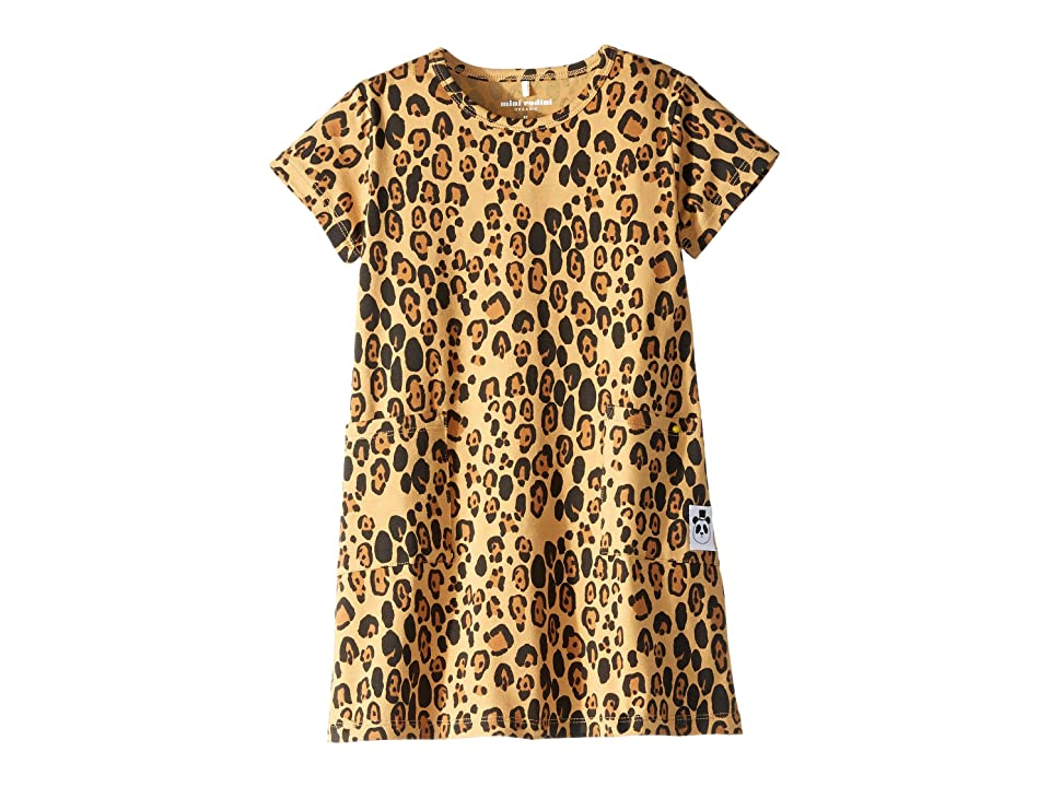 mini rodini Basic Leopard Dress (Infant/Toddler/Little Kids/Big Kids) (Beige 1) Girl