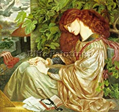 ROSSETTI PIA TOLOMEI ARTIST PAINTING REPRODUCTION HANDMADE OIL CANVAS REPRO DECO 32x32inch MUSEUM QUALITY