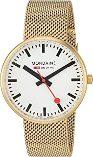 Mondaine SBB Elegant Wrist Watch (Model: A763.30362.21SBM) Gold-Plated-Stainless-Steel Strap, Railway Designed Face