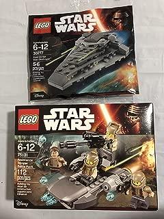 Lego Star Wars Resistance Trooper Battle Pack Bundled with Star Wars First Order Star Destroyer - Mini polybag