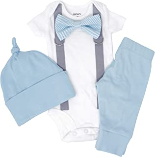 Cute Newborn Baby Boy Clothes. Baby Blue Coming Home Outfit