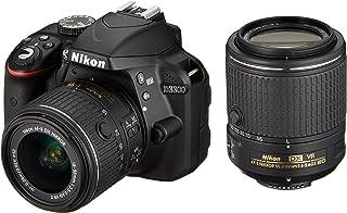Nikon digital camera D3300 double zoom kit 18-55mm DX VR II & 55-200mm DX VR II Lenses2 Black