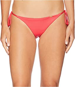 Triana Ribbed Ruched Back Brazilian Tie Side Bottom