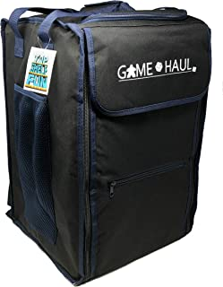 Game Haul Backpack: Evenfall Black - 10mm Padded Board Game Carrying Bag w/ Padded Shoulder Straps, Handle, and Top Compartment & More!
