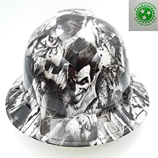 Wet Works Imaging Customized Pyramex Full Brim Sinister Joker Hard Hat With Ratcheting Suspension