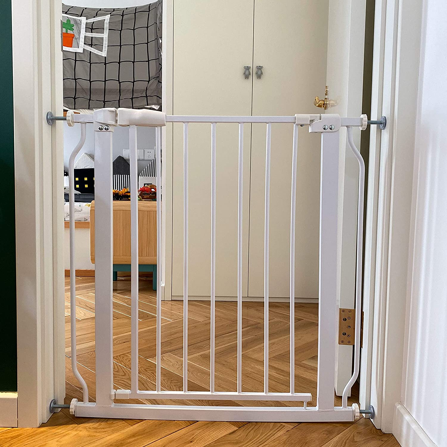BalanceFrom Easy Walk-Thru Safety Gate for Doorways and Stairways with Auto-Close/Hold-Open Features