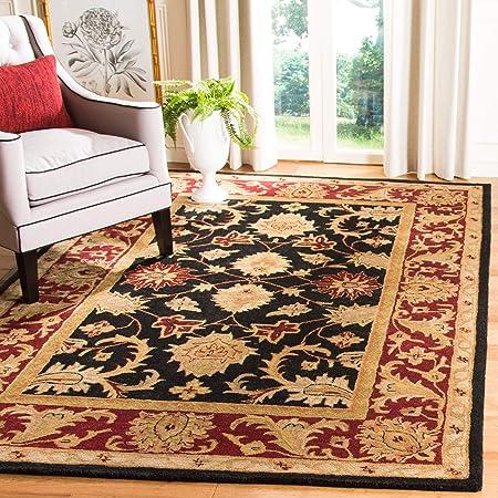Safavieh Classic Collection Cl244c Handmade Traditional Oriental Premium Wool Area Rug 4 X 6 Black Burgundy Furniture Decor