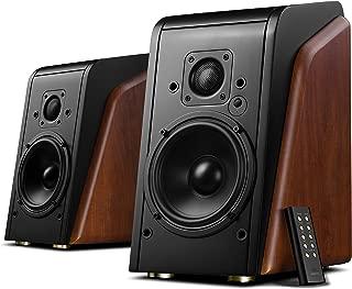 Swans Speakers - M200MKII Wifi - Powered Bluetooth Bookshelf Speakers - CES Award Winner - Wooden Enclosure - 2 Year Warranty -  RMS 80 Watts