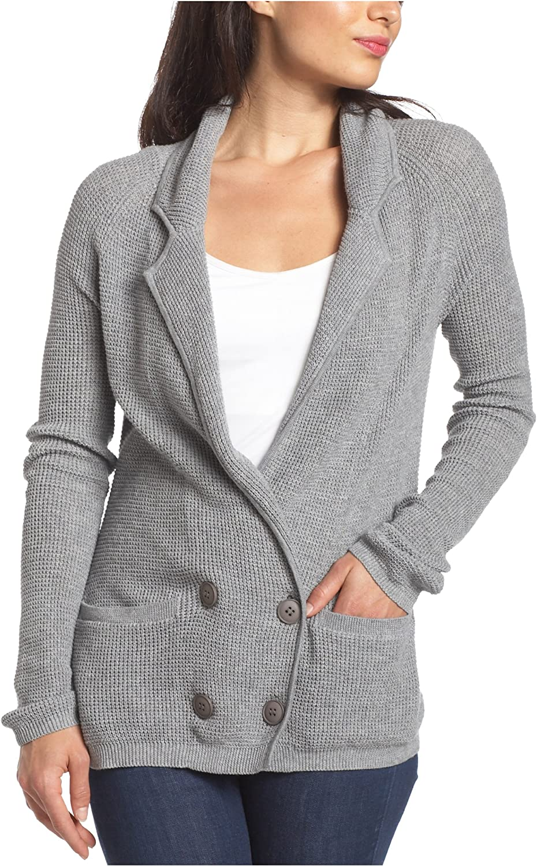 Splendid Women's Solid Thermal Stitch Sweater Blazer