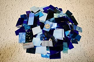 Blues Tones Mix Value Pack - Stained Glass / Mosaics (3 Pounds)