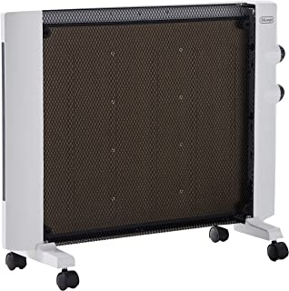 De'Longhi Mica Panel Heater, Rooms up to 250 sq. ft, White (Renewed)