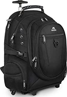 Rolling Backpack, Travel Laptop Backpack with Removable Wheels for Women and Men, 17 inch Roller Backpack for Business, Sc...