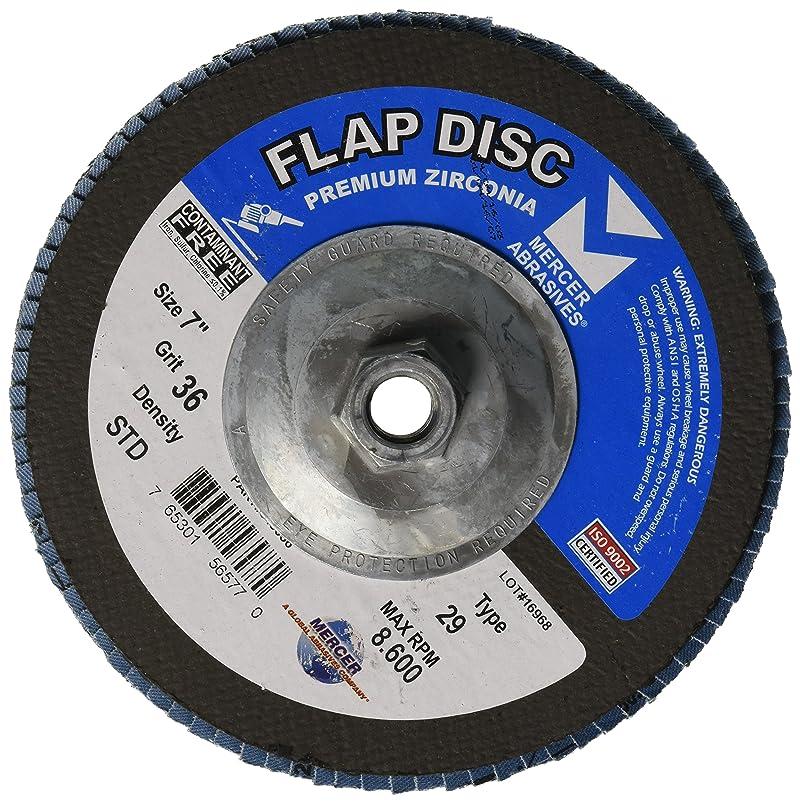Mercer Industries 343H036 Zirconia Flap Disc, Type 29, 7