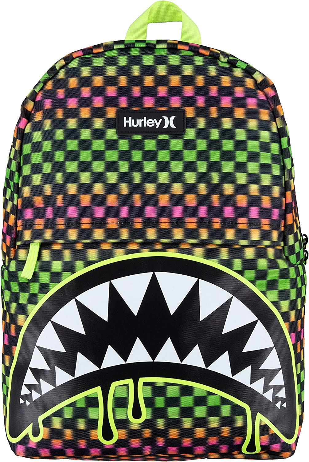 Max 71% OFF Hurley Kids' One and Only Max 54% OFF Bite Backpack Green Large Shark