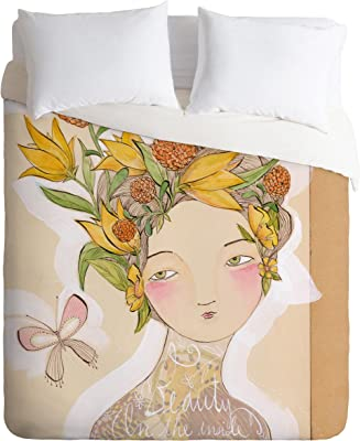 Deny Designs Cori Dantini Beauty On The Inside Duvet Cover, Queen