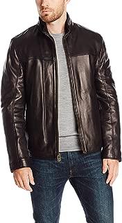 Cole Haan Men's Smooth Lamb Convertible Collar Jacket