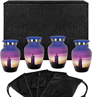 Trupoint Memorials Guiding Light Small Keepsake Urn for Human Ashes - Set of 4 - Beautiful Keepsake Token Urns to Remember...