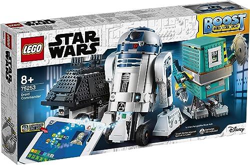promociones LEGO Star Wars Boost - - - Comandante Droide, Juguete de Construcción con 3 Robots Controlados por App, con R2-D2, Incluye sensor de distancia, motor y azultooth, Set robótico programable (75253)  tienda de venta en línea
