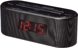Amazon Basics Alarm Clock with FM Radio, USB Charging Port and Bluetooth
