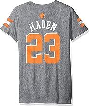 NFL Girls 7-16 Joe Haden Cleveland Browns Girls -Main Stripes V-Neck Player Name Short sleeve Tee, Heather Grey, M(10-12)