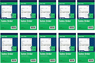 Adams Sales Order Book, 2-Part, Carbonless, White/Canary, 4-3/16 x 7-3/16 Inches, 50 Sets per Book, 10 Books (500 Sets)