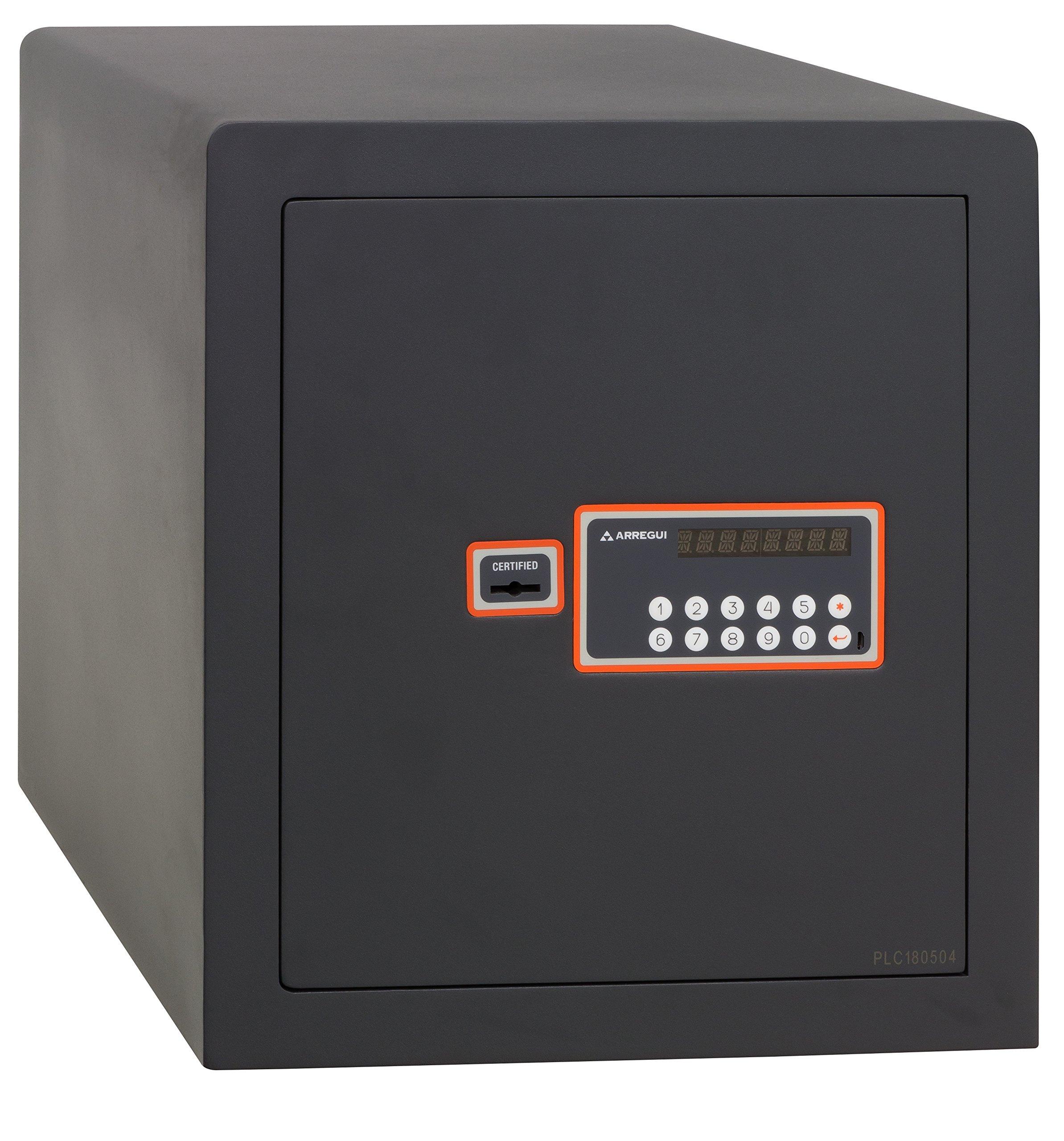 Arregui - Caja Fuerte sobreponer electrónica gris grafito CERTIFICADA S2: Amazon.es: Bricolaje y herramientas