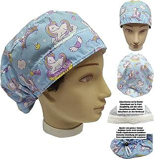 Cappello da infermiera UNICORNIE per donna Capelli Lunghi, Sala operatoria Dentista, Veterinaria, Cucina, Asciugamano dava...