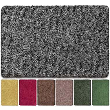BEAU JARDIN Floor Mats Commercial Super Absorbs Mud Doormat 36 x24  Latex Backing Non Slip for Front Inside Dirt Trapper Mats Cotton Entrance Rug Shoes Scraper Machine Washable Rug Carpet
