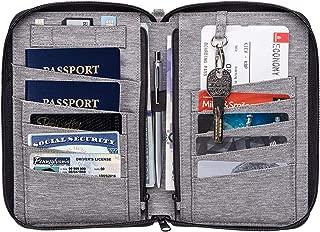 Valante Premium Family Travel Document Organizer Capacious RFID Passport Holder Wallet (Medium, Gray)