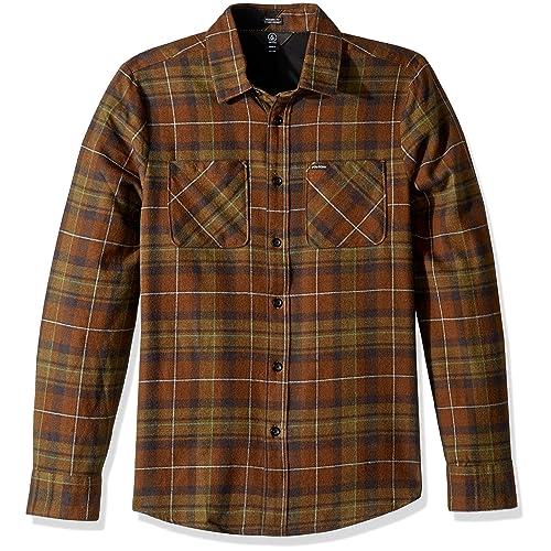 ed3db32a Volcom Men's Lumberg Long Sleeve Flannel Shirt