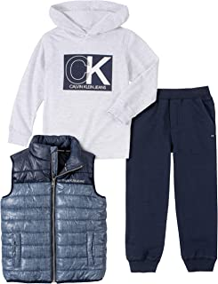 Baby Boys 3 Pieces Puffy Vest Set