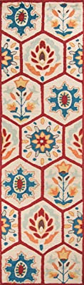 """Momeni Rugs Havana Collection, Hand Tufted Contemporary Area Rug, 2'3"""" x 8', Red"""