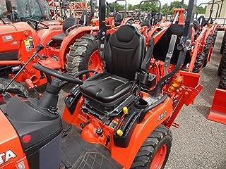 Durafit Seat Covers, KU06 Charcoal Gray Kubota Seat Covers for Tractor L3240, L3940, L4240, L5040, L5240, L5740in Charcoal Gray Leatherette