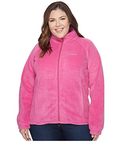 Columbia Plus Size Benton Springstm Full Zip (Fuchsia) Women