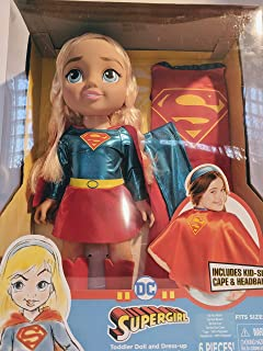 DC Super Hero Girls 15'' Supergirl Doll and Dress-up Care with Tiara