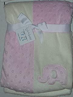 Kyle & Deena Patchwork Blanket, Elephant Pink/White 30