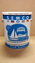 New Semco Teak Wood Classic Brown Finish Sealant Protector Sealer (1 Gallon - Approx Coverage 200sqft)-Packaged & Shipped by FurnitureOutlet