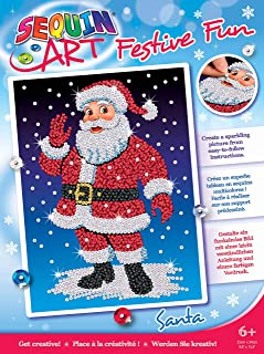 Sequin Art 1925 Santa Christmas Craft Kit from The Festive Fun Range