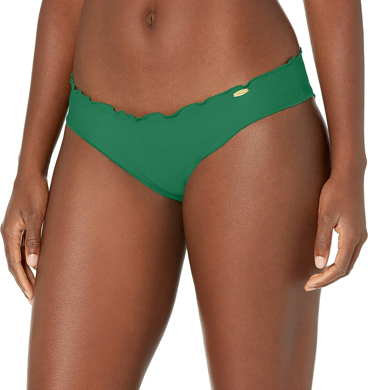 Luli Fama Women's Standard Cosita Buena Zig Zag Open Side Moderate Bikini Bottom