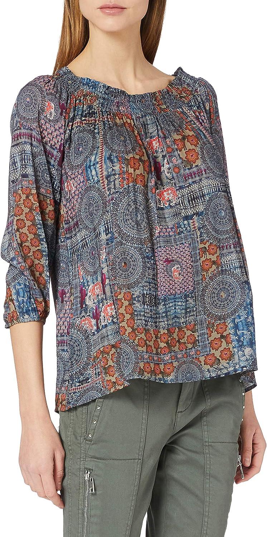 Desigual Genuine Women's Woman Woven Blouse Long Atlanta Mall Sleeve
