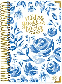 bloom daily planners New UNDATED Hardcover Calendar & Daily Bound to-Do List Book - Notes, Goals, to Do's Planning System - 8.25