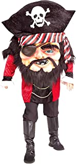 Men's Parade Pleasers Mega Matie Big Head Pirate Costume