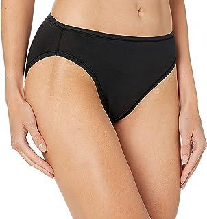 Amazon Essentials Womens Cotton Stretch High-Cut Bikini Panty
