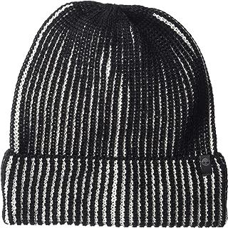Men's Plaited Cuff Hat, Black, One Size